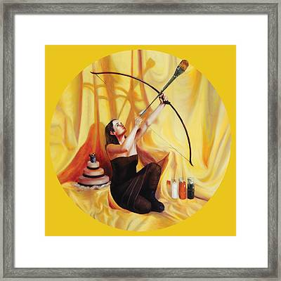 The Markswoman Framed Print