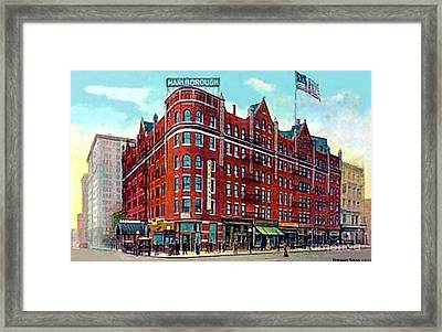 The Marlborough Hotel In New York City In 1909 Framed Print by Dwight Goss