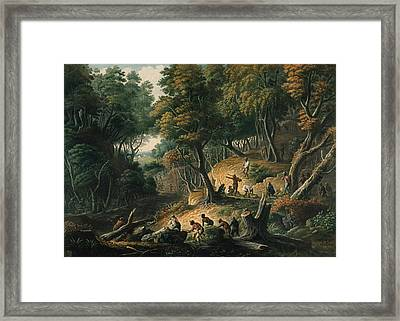 The Maroons In Ambush Framed Print by British Library