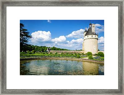 The Marques Tower And Fountain Framed Print
