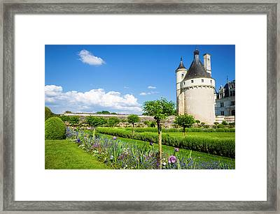The Marques Tower And Garden Framed Print
