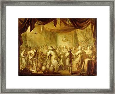 The Marriage At Cana Framed Print by Adriaen Pietersz. van de Venne