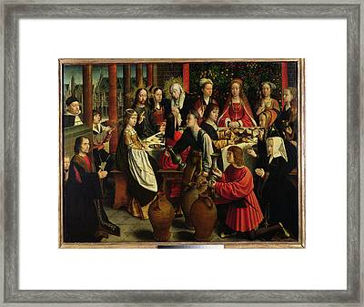 The Marriage Feast At Cana Framed Print