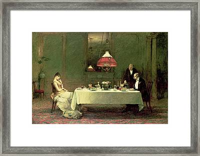 The Marriage Of Convenience, 1883 Framed Print