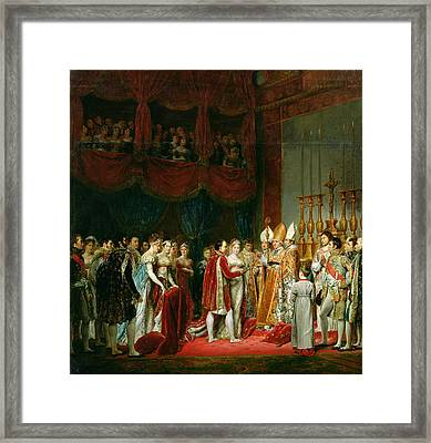 The Marriage Of Napoleon I 1769-1821 And Marie Louise 1791-1847 Archduchess Of Austria, 2nd April Framed Print by Georges Rouget
