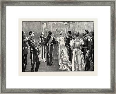 The Marriage Of Princess Marie Of Edinburgh The Protestant Framed Print