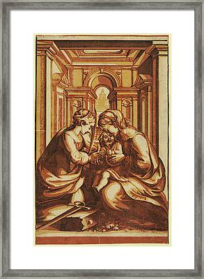 The Marriage Of St. Catherine, Artist Framed Print