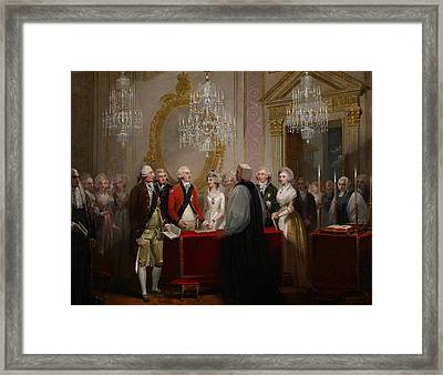The Marriage Of The Duke And Duchess Of York Framed Print by Henry Singleton