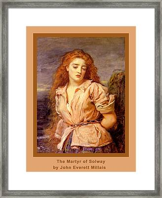 The Martyr Of The Solway Poster Framed Print by John Everett Millais
