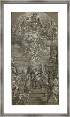The Martyrdom Of Saint Justina Paolo Veronese Paolo Framed Print by Litz Collection