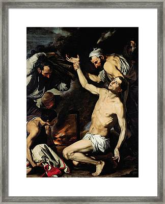 The Martyrdom Of Saint Lawrence Framed Print by Jusepe de Ribera
