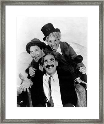 The Marx Brothers - A Night At The Opera Framed Print by Georgia Fowler