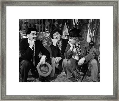The Marx Brothers - At The Circus Framed Print by Georgia Fowler