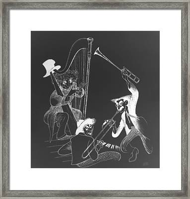The Marx Brothers B W Framed Print by Rob Hans