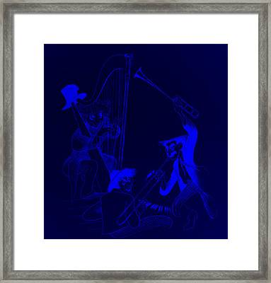 The Marx Brothers Blue Framed Print by Rob Hans