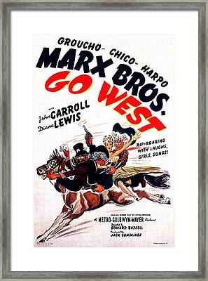 The Marx Brothers Go West Framed Print by Movie Poster Prints