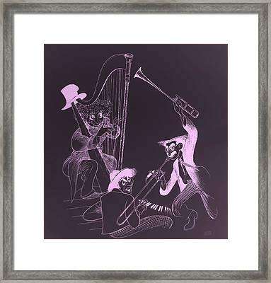 The Marx Brothers Pink Framed Print by Rob Hans