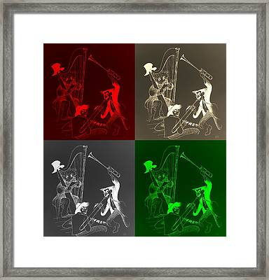 The Marx Brothers Quad Colors Framed Print by Rob Hans