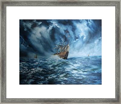 The Mary Rose And Fleet Framed Print
