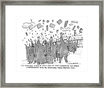 The Maryland School Of Art's Class Of 1998 Framed Print by Michael Crawford