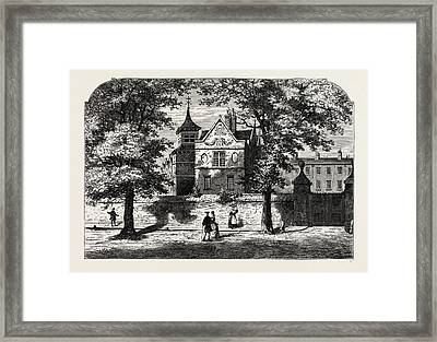 The Marylebone School-house In 1780 Framed Print by Litz Collection