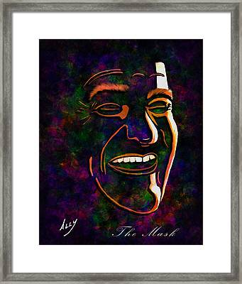 The Mask Framed Print by Ally Robertson