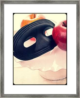 The Mask Framed Print by Edward Fielding