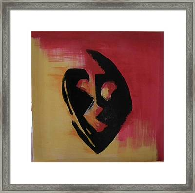 The Mask Framed Print by Faria  Ehsan