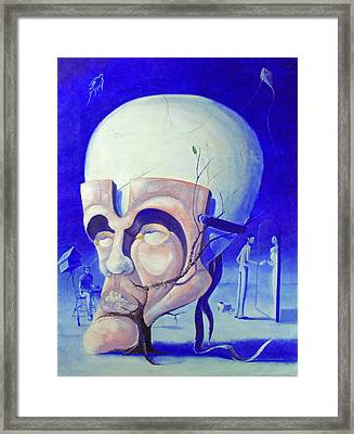 The Mask Framed Print by Kevin Escobar