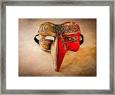 The Mask On The Floor Framed Print by Bob Orsillo