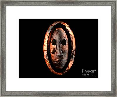 Framed Print featuring the digital art The Mask Series 1 by Jacqueline Lloyd