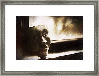 The Mask Sketch Framed Print by Scott Norris
