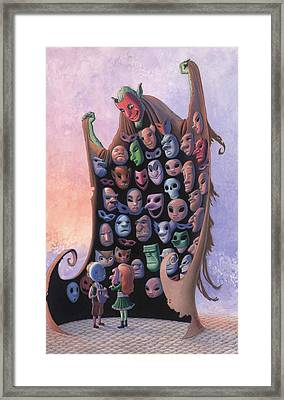 The Mask Vendor Framed Print