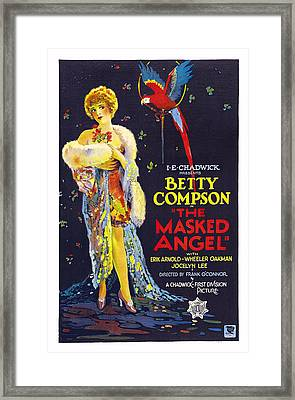 The Masked Angel, Us Poster, Betty Framed Print by Everett