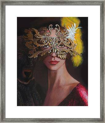 The Masked Ball Framed Print by Charles Wallis