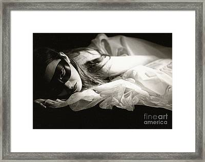 The Masked Woman Framed Print by Sharon Coty