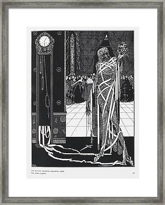 The Masque Of The Red Death Framed Print by British Library