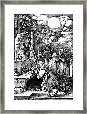 The Mass Of St. Gregory Framed Print by Albrecht Duerer