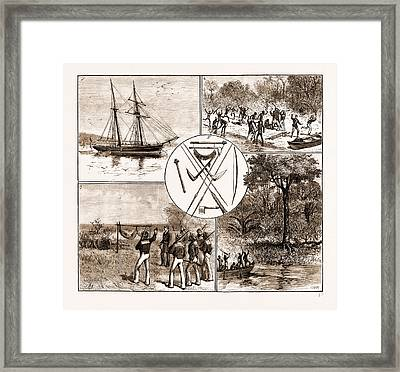 The Massacre Of Lieut. Bower And Five Seamen Of H.m.s Framed Print by Litz Collection