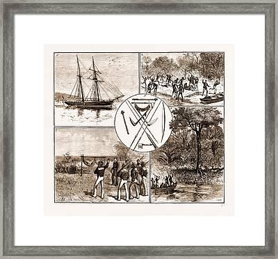 The Massacre Of Lieut. Bower And Five Seamen Of H.m.s Framed Print