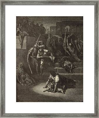 The Massacre Of The Innocents Framed Print by Antique Engravings