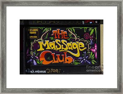 The Massage Club Framed Print by Brian Roscorla