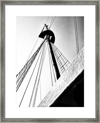 The Mast Of The Peacemaker Framed Print
