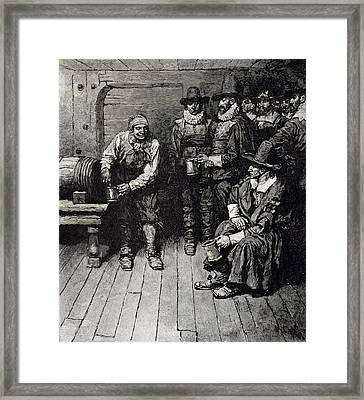 The Master Caused Us To Have Some Beere, From Harpers Magazine, 1883 Litho Framed Print by Howard Pyle