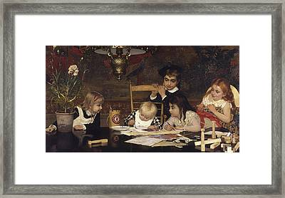 The Master Painter Framed Print by Jan Verhas