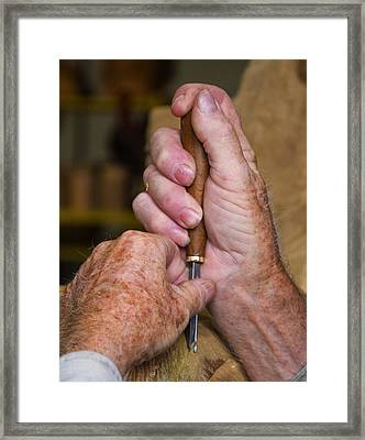 The Masters Hands Framed Print