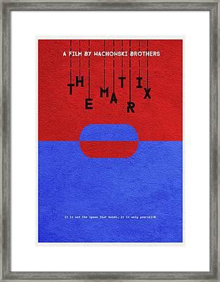 The Matrix Framed Print by Ayse Deniz