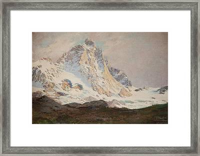 The Matterhorn, 1910 Framed Print