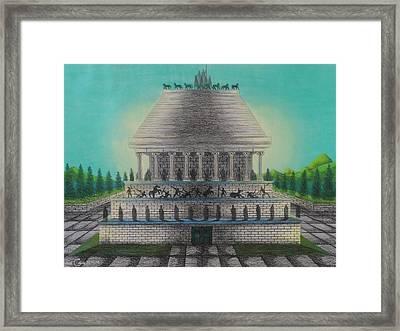 The Mausoleum Of Halicarnassus Framed Print