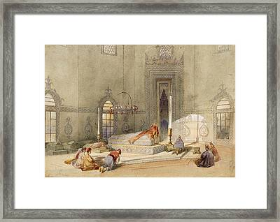 The Mausoleum Of Sultan Mohmed, Brusa Framed Print